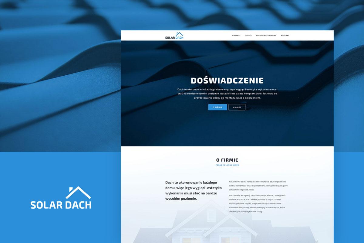 Strona internetowa firmy dekarskiej - projekt www