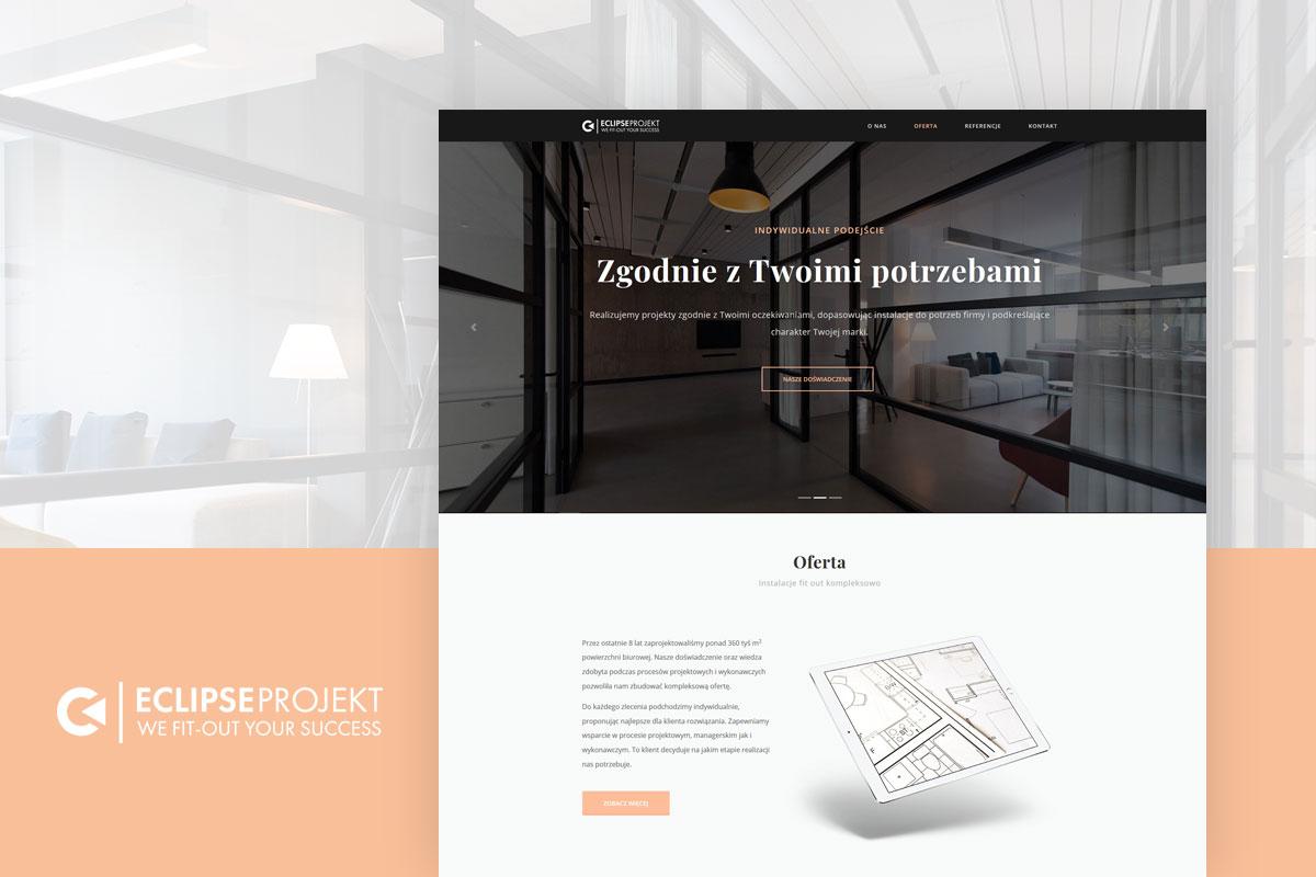 Strona internetowa biura projektowego - projekt www